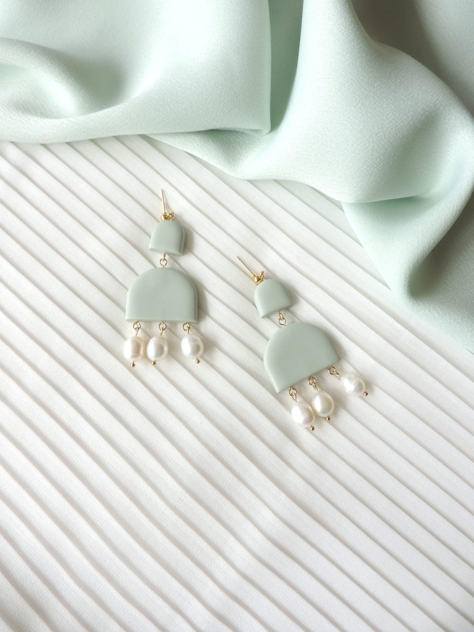 DSCN0927Collection HEMERA, bijoux, boucles d'oreilles argile polymère KOUKLAKI