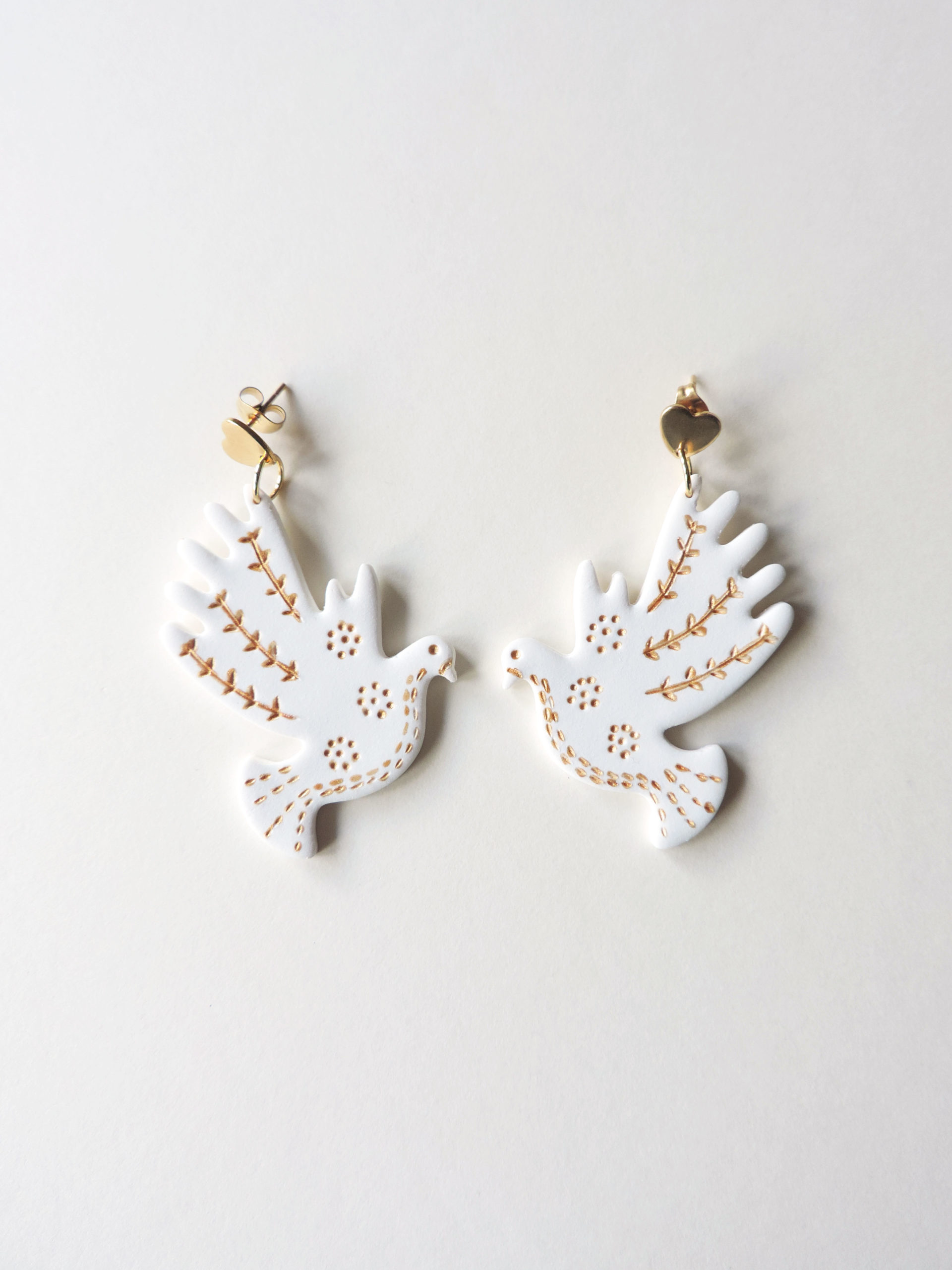 Collection St Valentin, bijoux, boucles d'oreilles en argile polymère KOUKLAKI